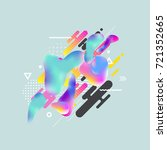 fluid color cover design with... | Shutterstock .eps vector #721352665