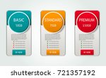 pricelist  hosting plans and... | Shutterstock .eps vector #721357192