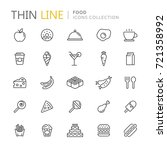 collection of food thin line... | Shutterstock .eps vector #721358992