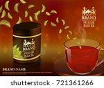 tea advertising flyer  poster... | Shutterstock .eps vector #721361266