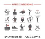 office syndrome infographic.... | Shutterstock .eps vector #721362946