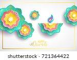diwali holiday shiny background ... | Shutterstock .eps vector #721364422