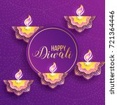 diwali holiday shiny background ... | Shutterstock .eps vector #721364446