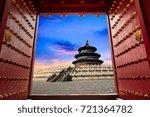 temple of heaven landscape at... | Shutterstock . vector #721364782