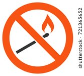 forbidden match fire flat... | Shutterstock .eps vector #721365652