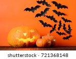 Glowing Halloween Pumpkins And...
