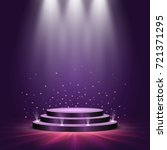 round podium on bright... | Shutterstock .eps vector #721371295