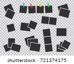 big set of square vector photo... | Shutterstock .eps vector #721374175