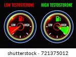 testosterone deficiency concept.... | Shutterstock .eps vector #721375012