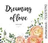 vector floral design card ... | Shutterstock .eps vector #721375792