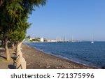 the promenade of kos island ... | Shutterstock . vector #721375996
