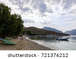 lovely scenery by the sea in... | Shutterstock . vector #721376212