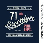 vintage brooklyn typography  t... | Shutterstock . vector #721376776