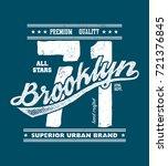 vintage urban typography  t... | Shutterstock . vector #721376845