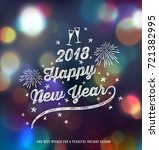 new year greeting card | Shutterstock .eps vector #721382995