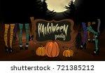 halloween party inventation... | Shutterstock .eps vector #721385212