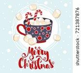 merry christmas hand drawn... | Shutterstock .eps vector #721387876