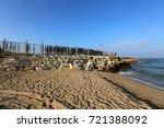 footprints in the sand | Shutterstock . vector #721388092