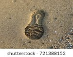 footprints in the sand | Shutterstock . vector #721388152