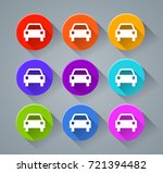 illustration of car icons with... | Shutterstock .eps vector #721394482