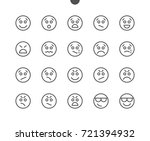 emotions ui pixel perfect well... | Shutterstock .eps vector #721394932