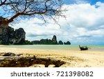 tonsai bay beach  railay  ao... | Shutterstock . vector #721398082