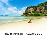 tonsai bay beach  railay  ao... | Shutterstock . vector #721398106