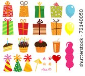 gift set and other birthday... | Shutterstock .eps vector #72140050