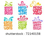 illustration of set of gift... | Shutterstock .eps vector #72140158