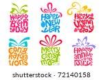 illustration of set of gift... | Shutterstock .eps vector #72140158