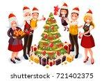 winter family christmas tree...