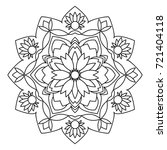 mandala. black and white... | Shutterstock . vector #721404118