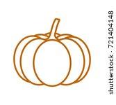 icon pumpkin silhouette | Shutterstock .eps vector #721404148
