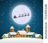 Christmas Santa Claus Flying O...