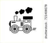 line drawn engine. train design ... | Shutterstock .eps vector #721408078