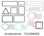 blank postal stamps set...   Shutterstock .eps vector #721408402
