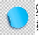 sticker with peel off corner... | Shutterstock .eps vector #721409716