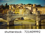 bridge over the tevere river....   Shutterstock . vector #721409992