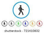 walking man rounded icon. style ... | Shutterstock .eps vector #721410832