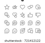 emotions ui pixel perfect well... | Shutterstock .eps vector #721412122