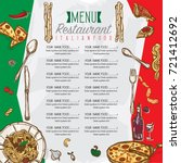 menu italian food restaurant... | Shutterstock .eps vector #721412692