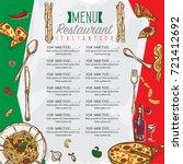 menu italian food restaurant... | Shutterstock .eps vector #721412692