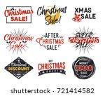 christmas sale lettering and... | Shutterstock .eps vector #721414582