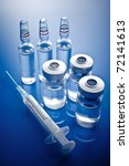 Medicine Vials And Syringe