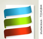 set of colorful textile labels. ... | Shutterstock .eps vector #72141844