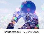 telecommunication concept.... | Shutterstock . vector #721419028