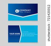 business card template creative ... | Shutterstock .eps vector #721420312