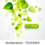 abstract leaves background | Shutterstock .eps vector #72142042
