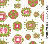 Seamless cute floral pattern - stock vector