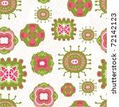seamless cute floral pattern   Shutterstock .eps vector #72142123